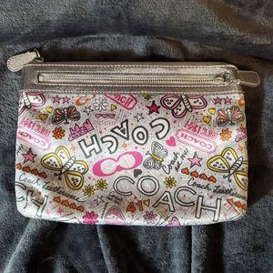 Coach Poppy Graffiti Cosmetic Bag